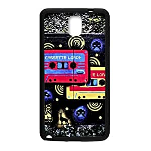 Doodle Style Cassette Tape Custom Case for Samsung Galaxy Note 3 (Laser Technology)