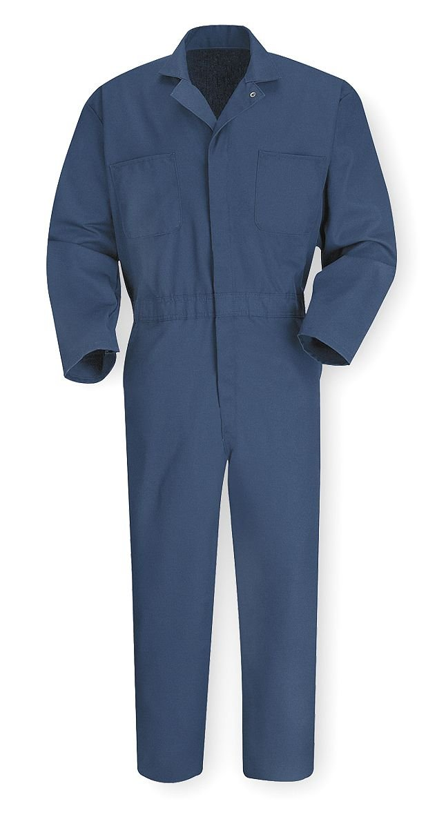 Vf Imagewear Coverall, Chest 54In., Navy Navy Blue 65% Polyester/35% Cotton, Twill CT10NV RG 54 - 1 Each
