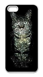 Cat Iphone 5&5S Durable Hard Plastic Case Cover Custom DIY
