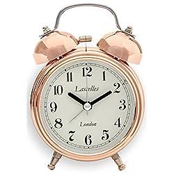 Roger Lascelles Clocks ALB/LASC/COPPER Alarm Clock, Small, Copper