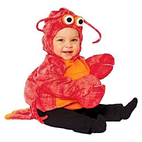 Baby Girl Lobster Costume (INFANT PLUSH LOBSTER COSTUME 6-12 MONTHS)