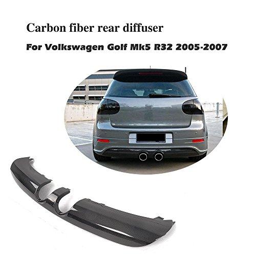 jcsportline fits Volkswagen VW Golf V MK5 R32 Hatchback Carbon Fiber Rear Diffuser Lip Spoiler ()