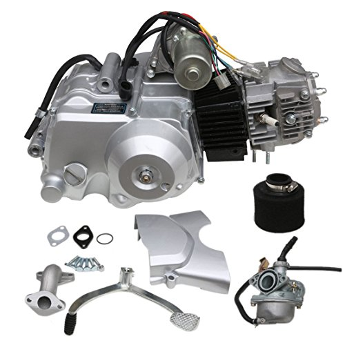 TDPRO 125cc Engine 4 Stroke Motor Semi-Auto 3 Forward 1 Reverse Gear for ATV 4 Wheelers Tricycle (Cc 125 Motorcycle)