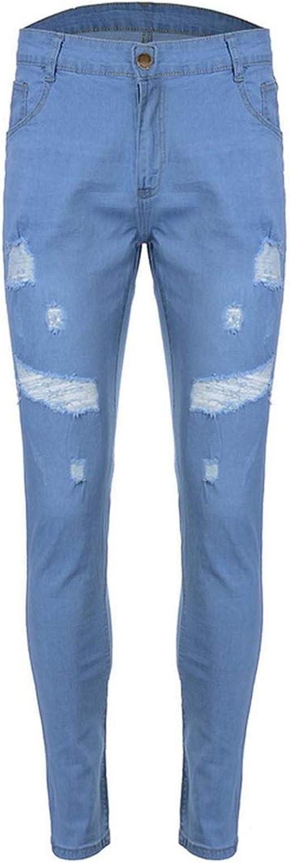 ストリートメンズジーンズヴィンテージスキニー破壊破れたジーンズ壊れたパンクパンツオムヒップホップジーンズ男性