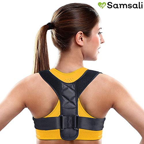 Samsali Posture Corrector, Adjustable Posture Corrector for Men and Women, Back Straightener and Shoulder Support, Best Posture Corrector for 2019, ()