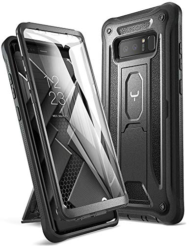 YOUMAKER Kickstand Case for Galaxy Note 8, Full Body with Built-in Screen...