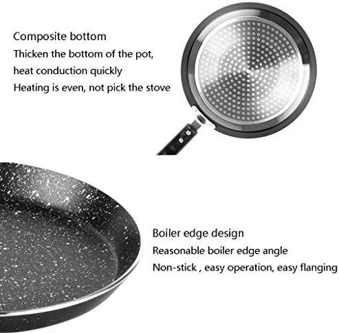 LXD Pots, Casseroles Maison antiadhésive, poignée bakélite - Facile Crêpes Omelette Fried Oeufs Tortilla pain Crepes, aluminium,22 * 2cm
