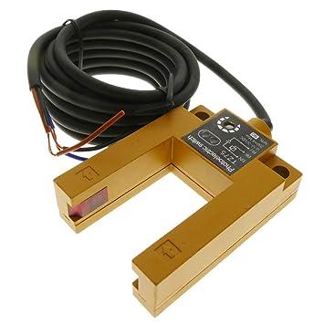 BeMatik - Sensor interruptor célula fotoeléctrica NPN NO 10-30VDC barrera: Amazon.es: Electrónica