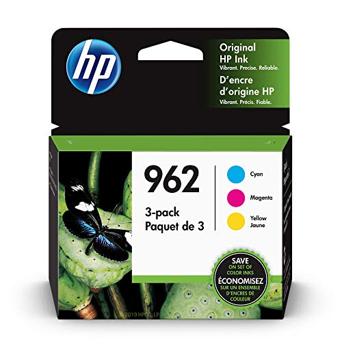 HP 962 Cyan Magenta amp Yellow Ink Cartridges 3 Cartridges 3YP00AN
