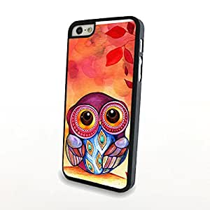 Owl Hot Cute Funny Skull Painted Animal Case Cover Skin For Apple Candy Case - iPhone 5 5S