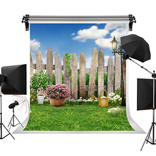 Kate 5x7ft/1.5x2.2m Easter Backdrop Spring Background Photography Backdrops Lawn Garden Backdrop Party Sunny Blue Sky Photographic Background Children