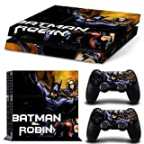 E-WOR®Ps4 Console Designer Protective Vinyl Skin Decal Cover for Sony Playstation 4 & Remote Dualshock 4 Wireless Controller Stickers TN-PS4-0069(Batman) by E-WOR