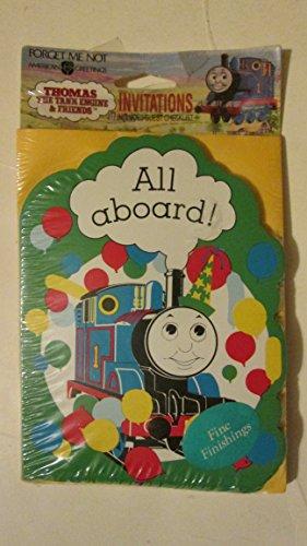 Thomas the Tank Engine and Friends 8 Birthday Invitations & Envelopes - Thomas