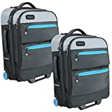 Bondka (2 Pack) Expandable Carry On Luggage Set Lightweight Roller Bag 22 inch Travel Bag with Wheels