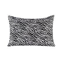 Townssilk Both Side 100% 16mm Silk Pillowcase King Size Pillow Case Cover with Hidden Zipper Zebra