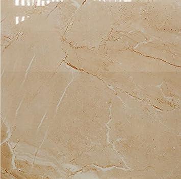 Fliesenmax Feinsteinzeug Bodenfliese Titania Beige Poliert 60x60cm