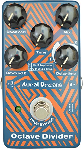 Aural Dream Octave Divider Digital Guitar Effects Pedal with drop 1oct and 2oct Including adjustable time difference True Bypass by Aural Dream