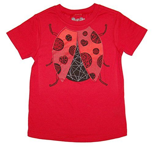 [Peek A Zoo Toddler Become an Animal Short Sleeve T shirt - Ladybug Red (5T)] (Ladybug Soft Costumes)
