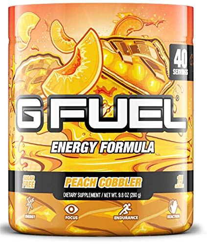G Fuel Peach Cobbler (40 Servings) Elite Energy and Endurance Formula 9.8 oz.