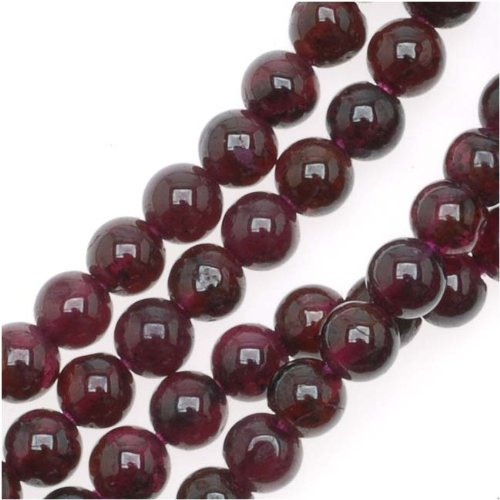 Garnet Gemstone Round Beads 3.4-4mm /14 Inch Strand