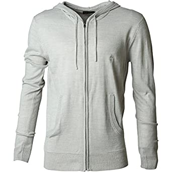 c05e6797730 Mens French Connection Cash Zip Knitwear Light Grey Marl Guys Gents (Size  XXL XX-
