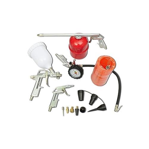 vidaXL Kit d'Outils Pneumatiques pour Compresseur 11 pcs Outil Bricolage