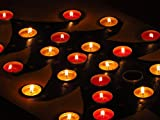 Home Comforts Laminated Poster Red Tea Lights Advent Calendar Christmas Tree Poster