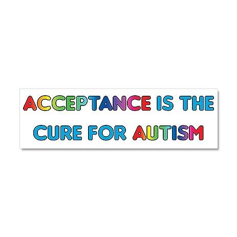 Cafepress autism acceptance car magnet 10 x 3 car magnet 10 x 3