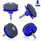 Biilaflor Lawn Mower Sharpener,Lawn Mower Blade Sharpener for Any Power Drill Hand Drill (4 PCS Blue)