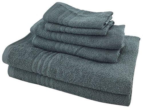 Metro 100% Cotton 6-piece Basic Towel Set (Grey) by METRO