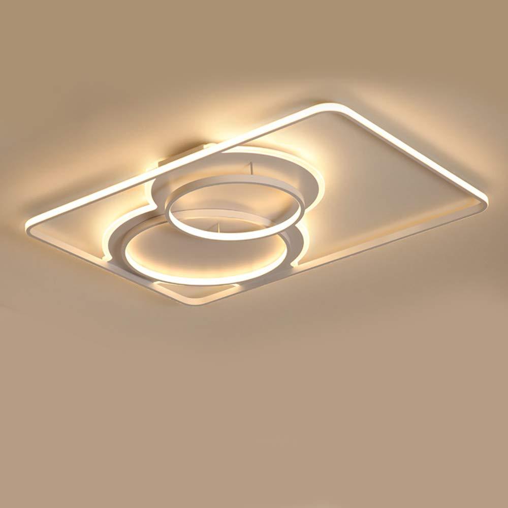 寝室LEDシーリングライトフラッシュマウント無段階調光長方形デザイン照明器具天井リビングダイニングルーム,Dimming,160Wwhite B07S9FTNPJ Dimming 160Wwhite