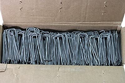 500-4 Inch Garden Landscape Fabric Anchor Staples Thick 11 Gauge Steel Made In USA By Pinnacle Mercantile