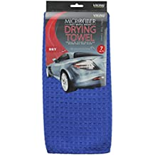 Viking Car Care Waffle Weave Drying Towel, 7 Square Feet, Blue