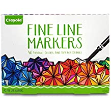 Crayola Fine Line Markers, Assorted Colors, Adult Coloring, 40 Count, Stocking Stuffer, Gift - 58-7715