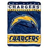 The Northwest Company San Diego Chargers Established 1960 NFL 12th Man Raschel Plush 60x80 Twin Size Throw Blanket