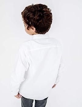 Scotta 1985 - Camisa Oxford para Niño Algodón, Estilo Elegante y Juvenil, Blanca: Amazon.es: Ropa y accesorios