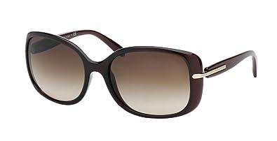 e66deb0fe3f143 Amazon.com  Prada PR08OS Sunglasses-IAD 6S1 Bordeaux Gradient Red ...