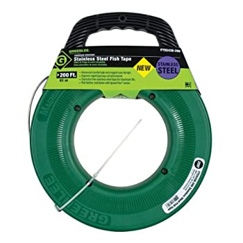 Image of Greenlee FTSS438-200 Stainless Steel Fish Tape, 200-Feet x 1/8-Inch