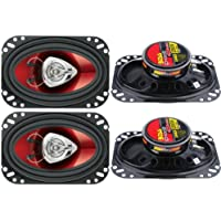 4) New BOSS CH4620 4x6 400W 2-Way Car Audio Coaxial Speakers Stereo Red