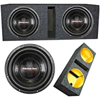 American Bass 2 XD1022 10 Inch 2 Ohm 1800W MAX Dual Enclose Car Subwoofers & Box