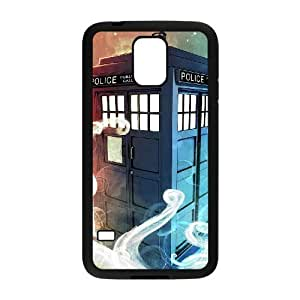 C-EUR Customized Print Doctor Who TARDIS Police Call Box Hard Skin Case Compatible For Samsung Galaxy S5 I9600