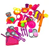 kitchen accessories and baking - BOLEY (60-Piece) Play Kitchen Set - Play Kitchen Accessories including Play Kitchen Utensils, Play Food, Play Baking Set, Play Tea Set and Much More