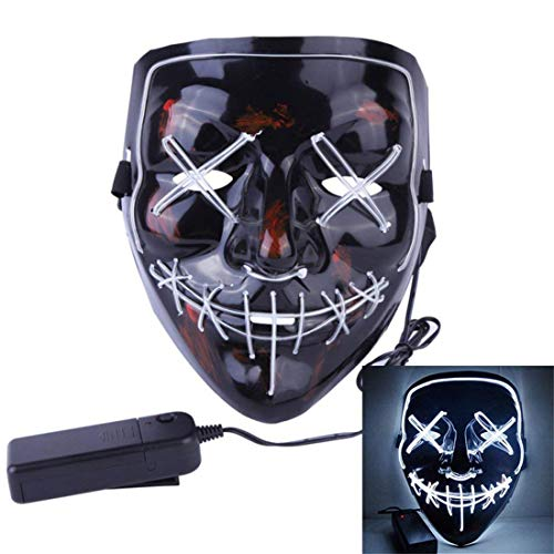 Qhome LED Light up Purge Mask for Festival