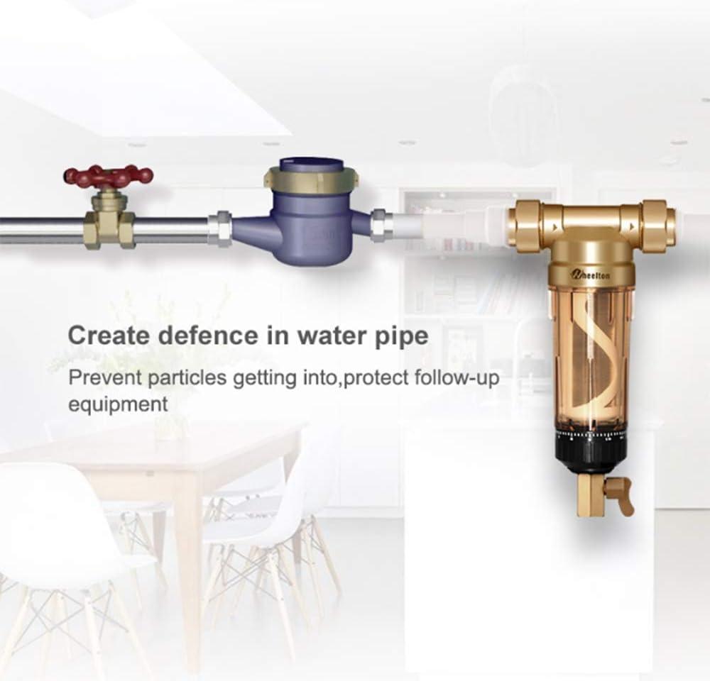 El prefiltro de agua (WWP-02S) lleva dos limpiaparabrisas de latón ...