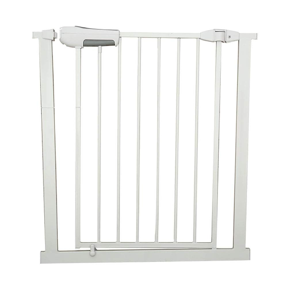 73-74cm Baby Gates Extra Wide Metal Bbay Gates for Stairs, Preesure Mount Indoor Safety Pet Gates with Cat Door, Fits 65-184cm Wide, White (Size   73-74cm)