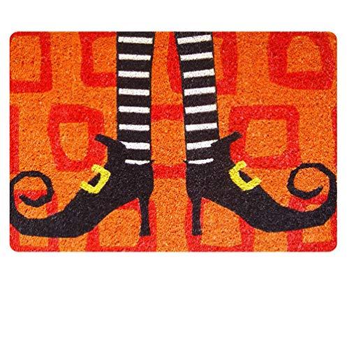 HUGS IDEA Wicked Witch Shoes Doormat Non Slip Entryway Floor Mat Indoor Front Rug Carpet Halloween -
