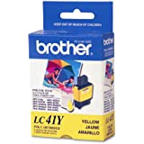 Brother LC41Y Ink Cartridge, 400 Page Yield, Yellow