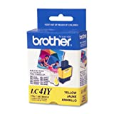 Brother LC41Y Yellow Ink Cartridge - Retail Packaging