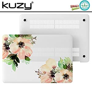 "Kuzy - Plastic Case for Older MacBook Pro 13.3"" (Model: A1278) Aluminum Unibody Ultra Slim Rubberized Matte Cover - Flowers"