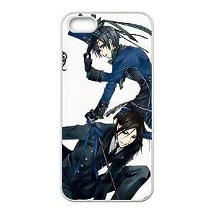 Black Butler iPhone 5 5s Cell Phone Case White K8601177